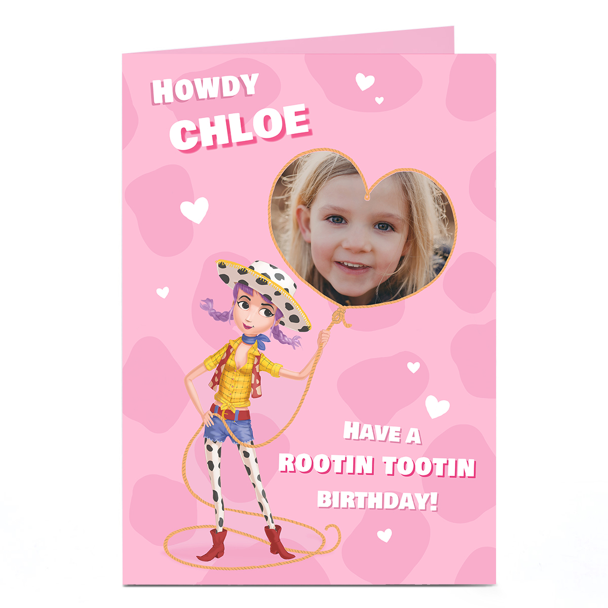 Personalised Photo Card - Howdy Birthday Girl