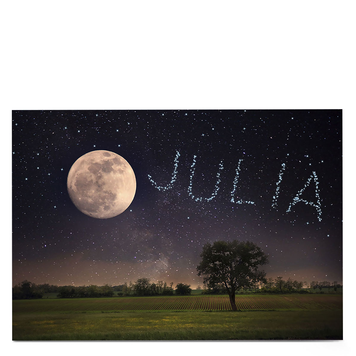 Personalised Card - Moon & Stars