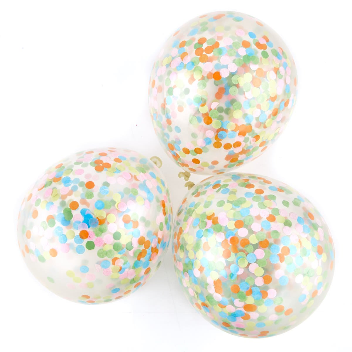 Multicoloured Confetti Balloons - Pack Of 6