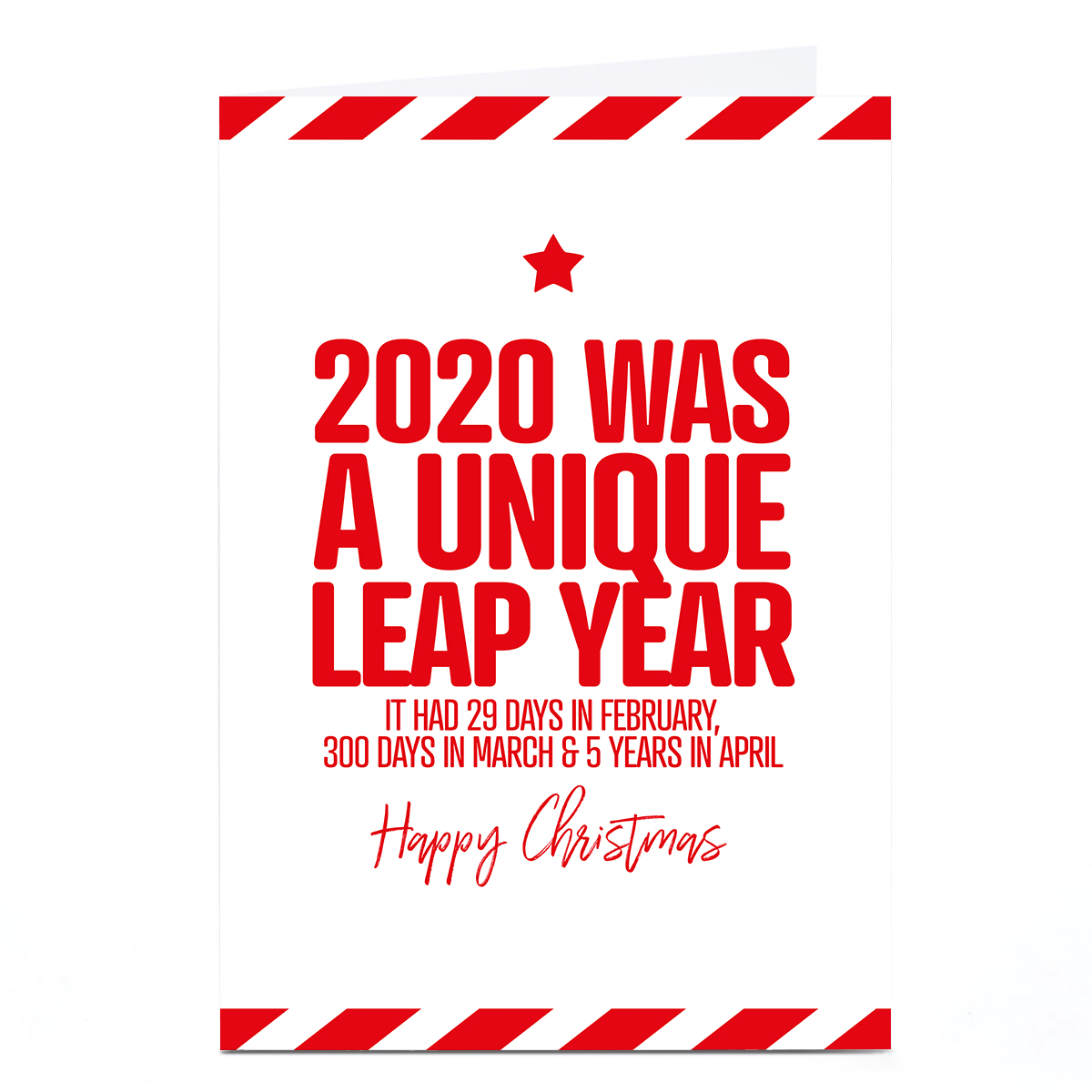 Personalised Punk Christmas Card - 2020 Leap Year