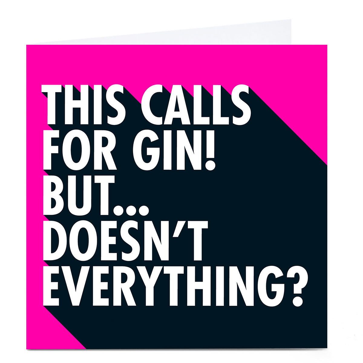 Personalised Hello Munki Card - This Calls For Gin