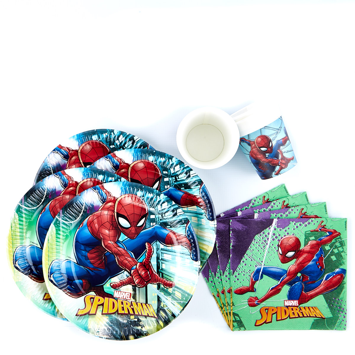 Marvel Spider-Man Party Tableware Bundle - 36 Pieces