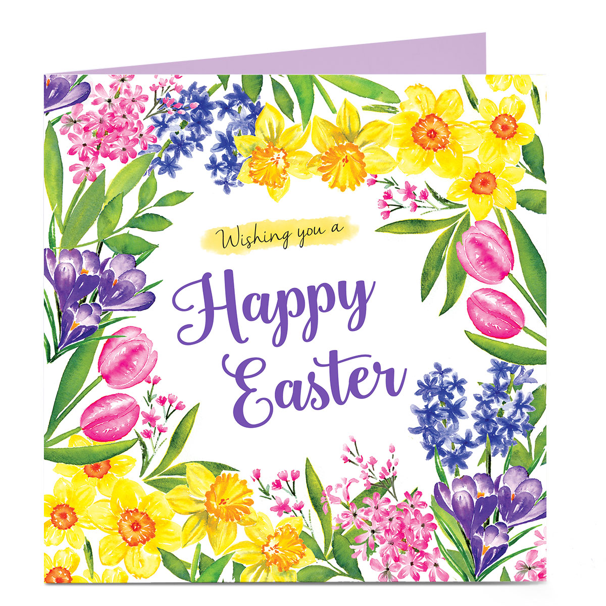 Personalised Easter Card - Tulips & Daffodils
