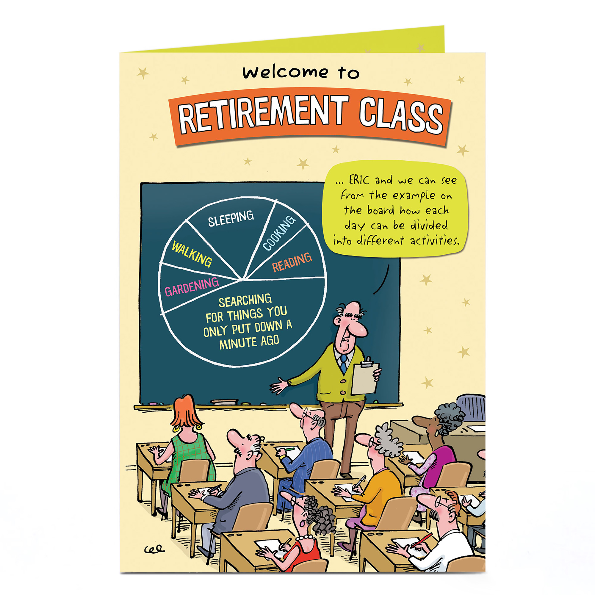 Personalised Retirement Card - Retirement Class
