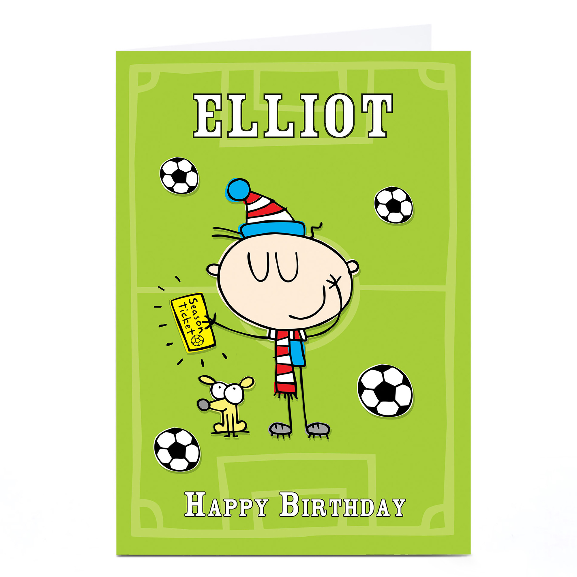 Personalised Birthday Card - Football Supporter