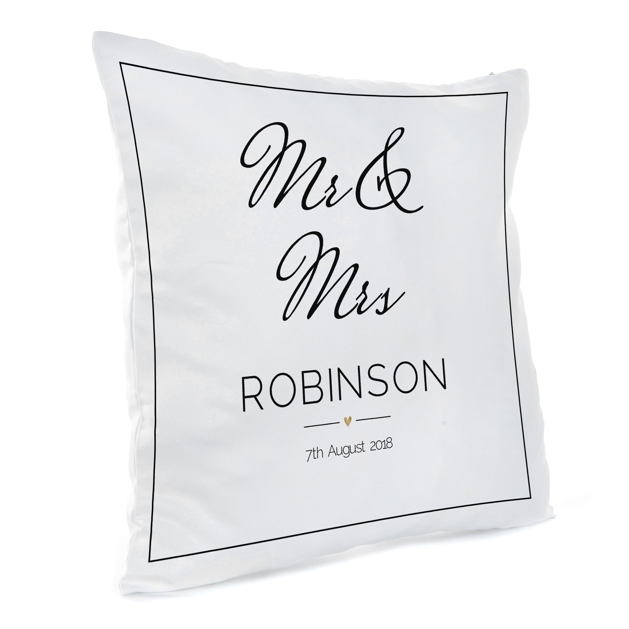 Personalised Cushion - Wedding Date & Names