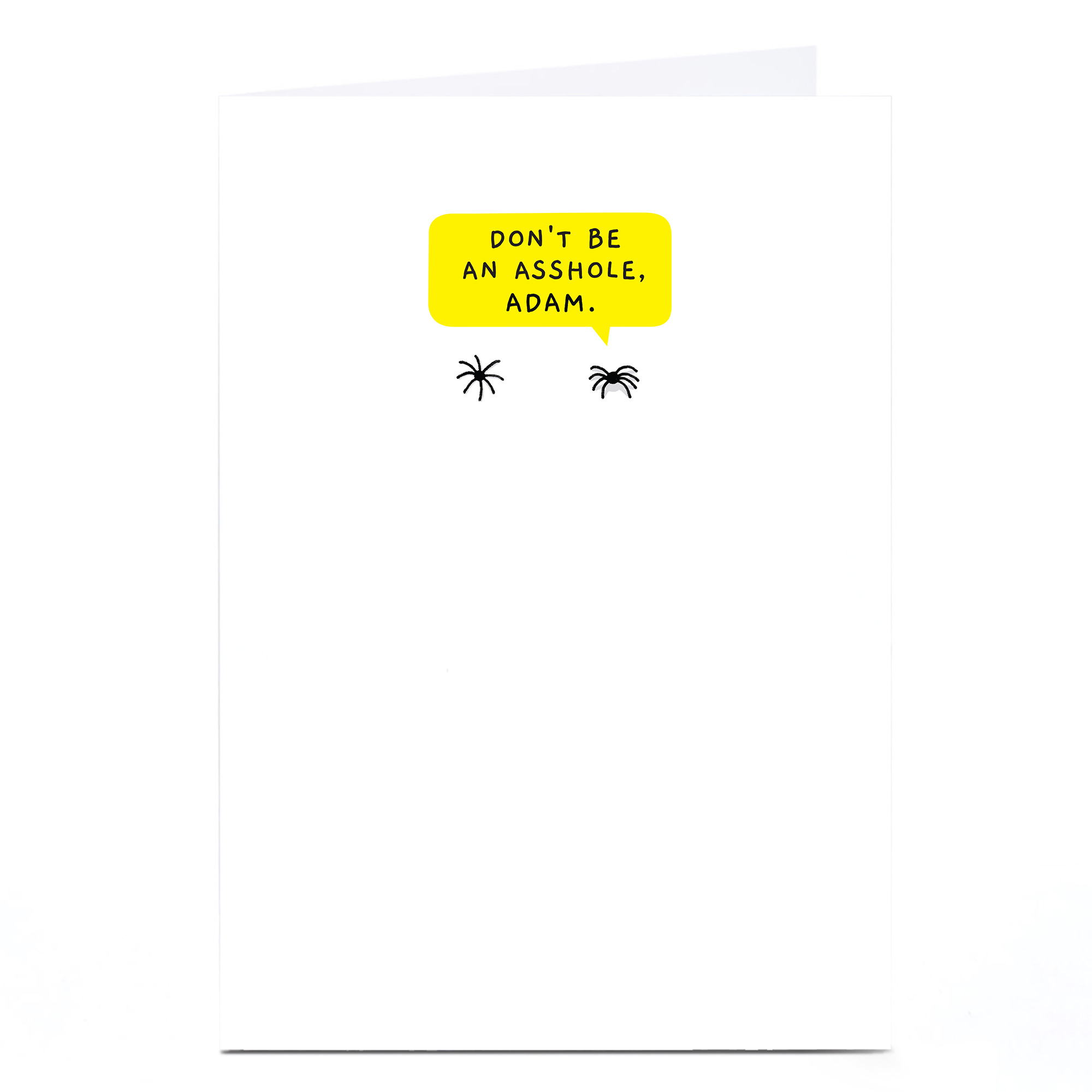 Personalised Mungo & Shoddy Card - Spiders