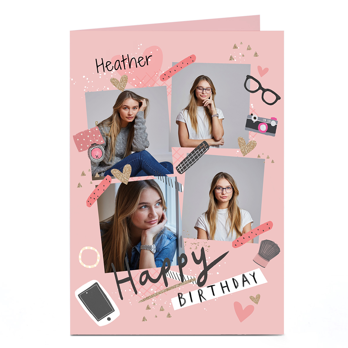 Personalised Photo Card - Pink Birthday