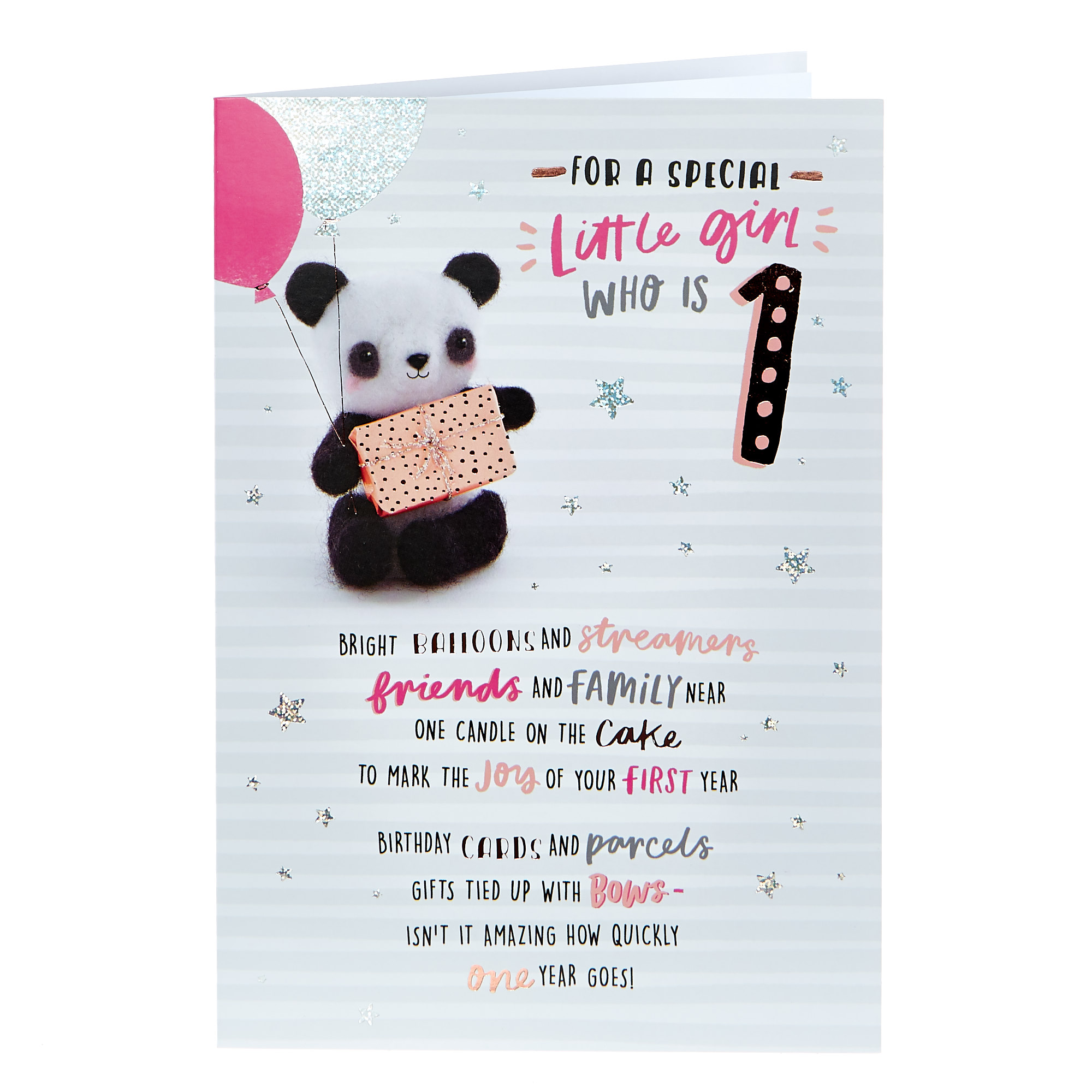 1st Birthday Card - Special Little Girl