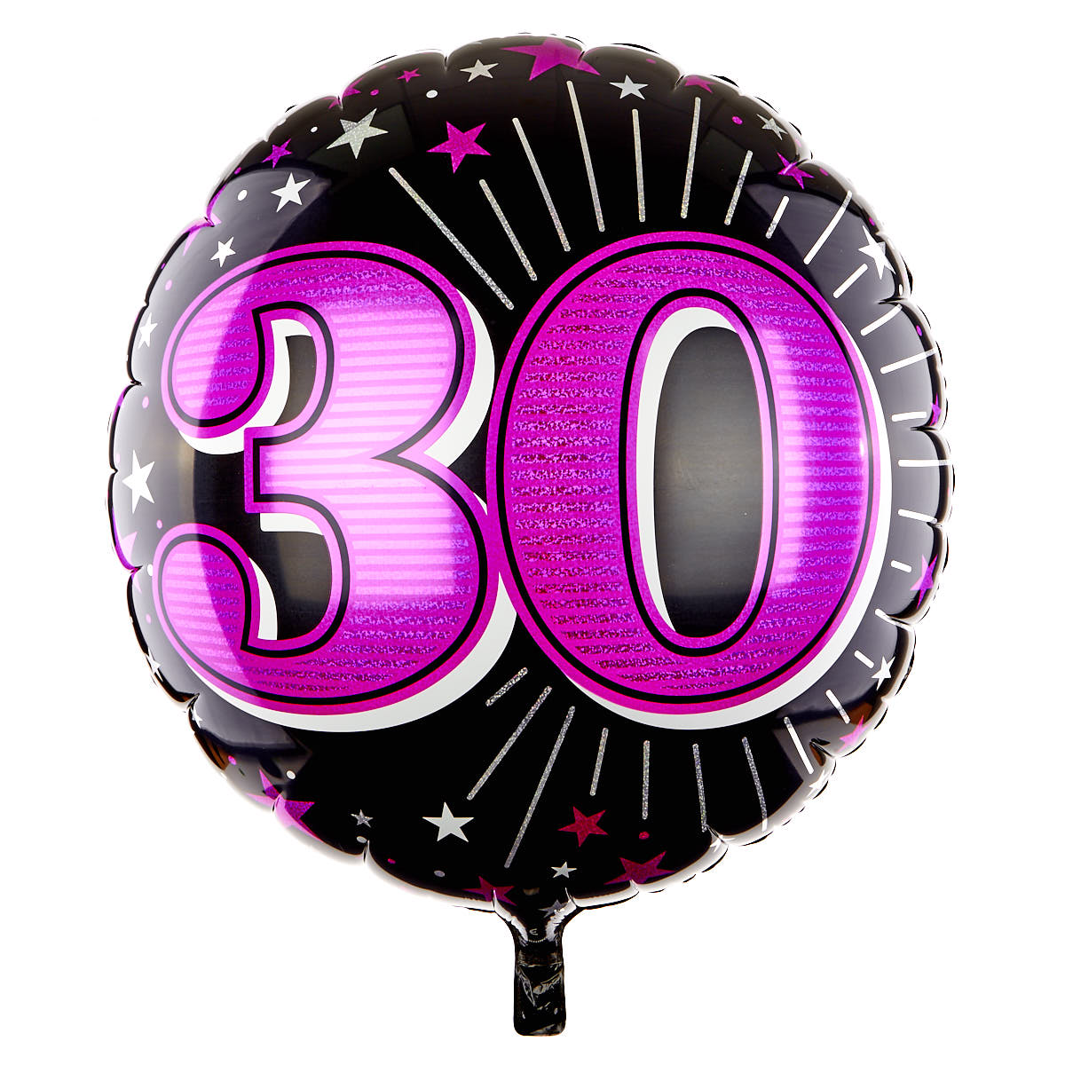 31 Inch 30th Birthday Helium Balloon - Pink