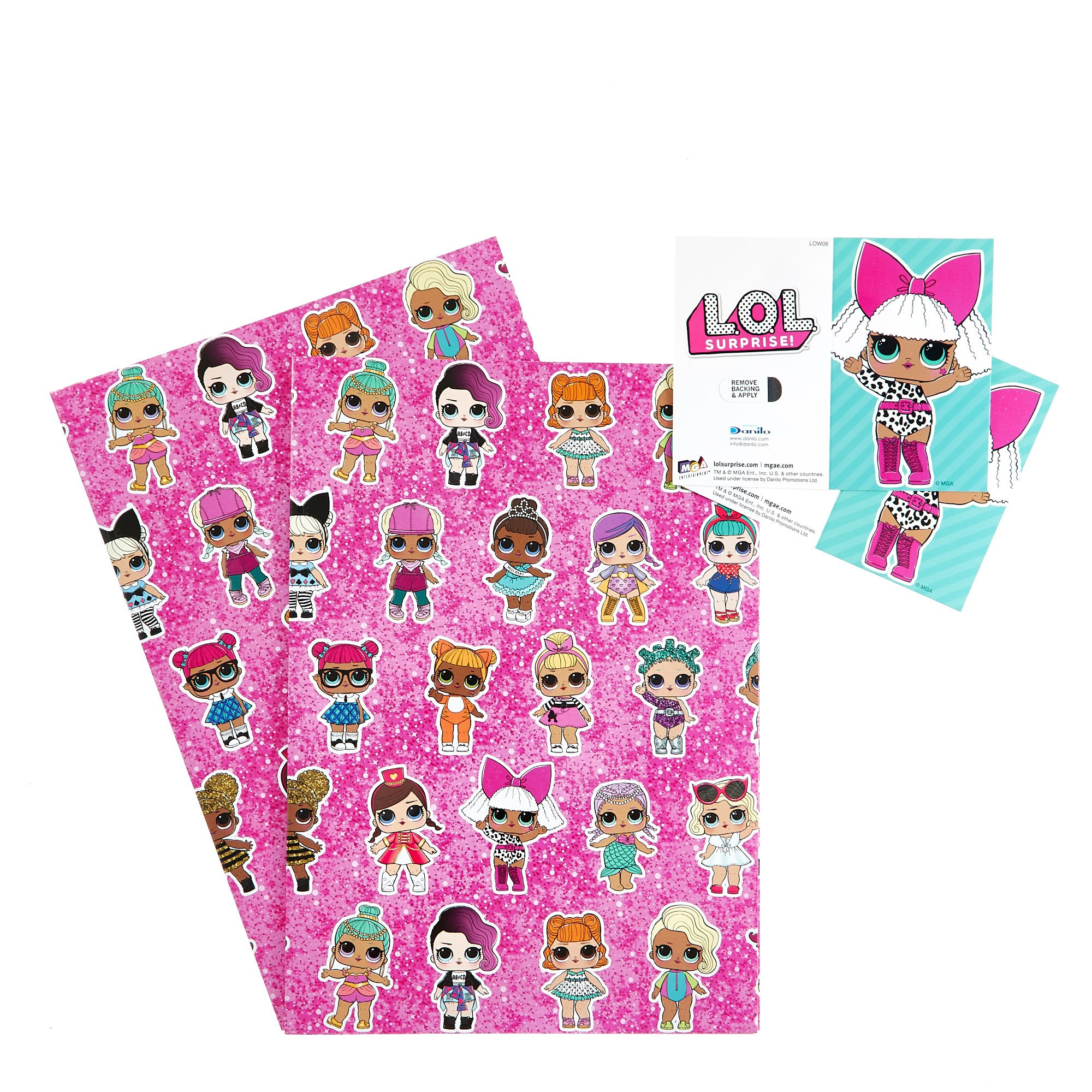 L.O.L. Surprise! Wrapping Paper & Gift Tags - Pack Of 3