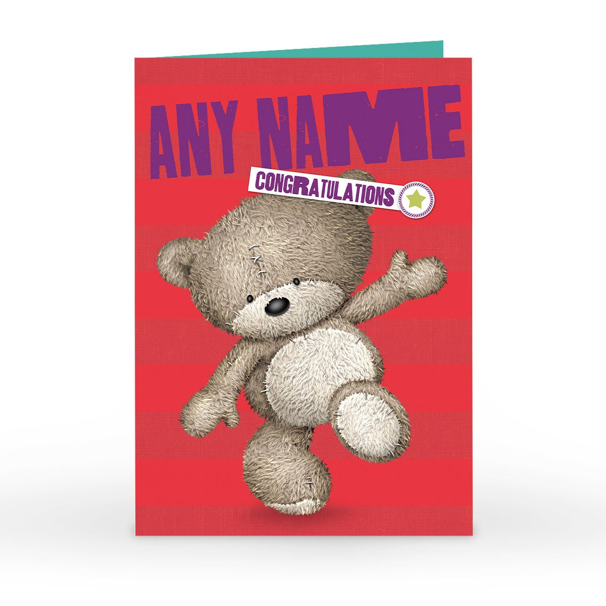 Personalised Hugs Bear Congratulations Card