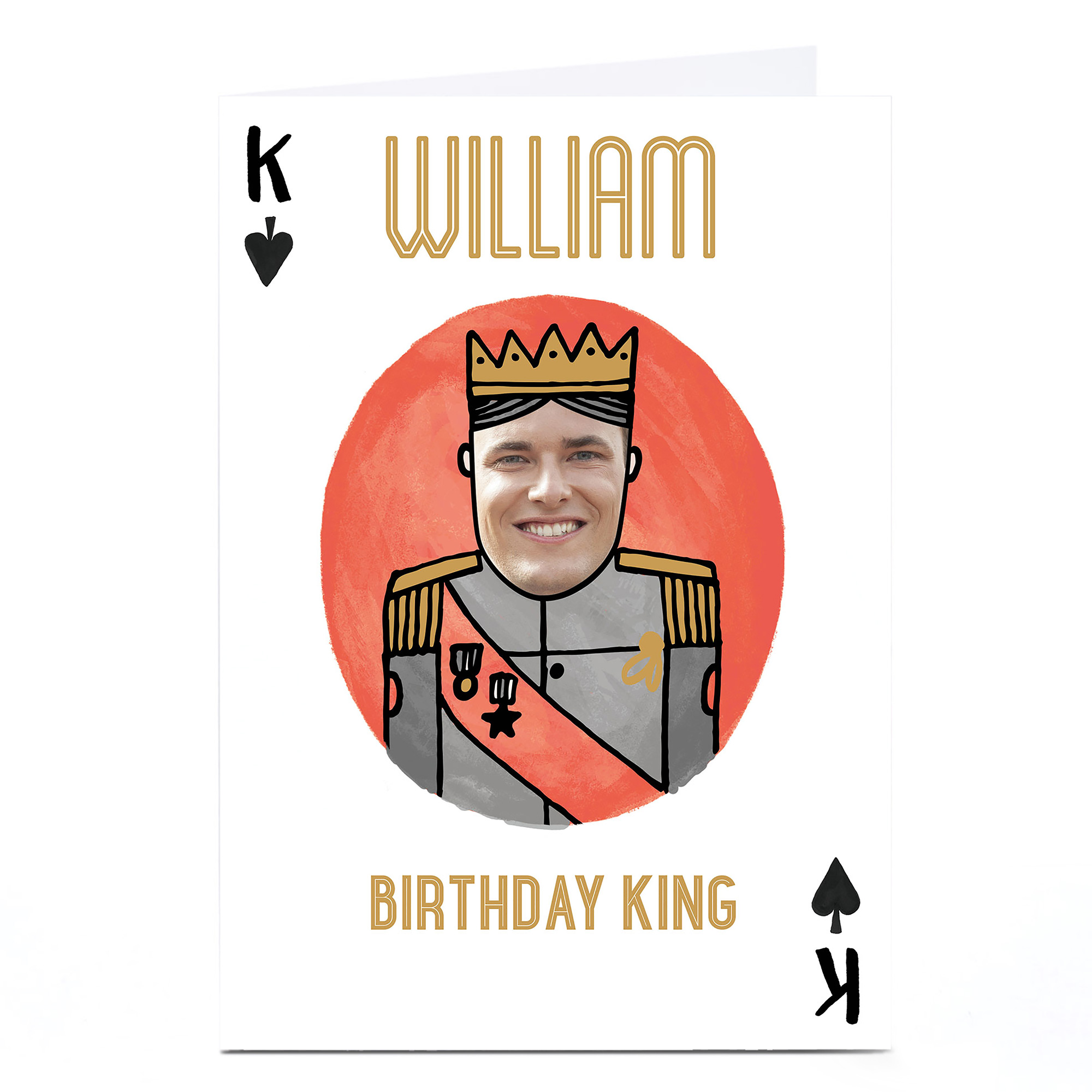 Photo Birthday Card - King Of Spades