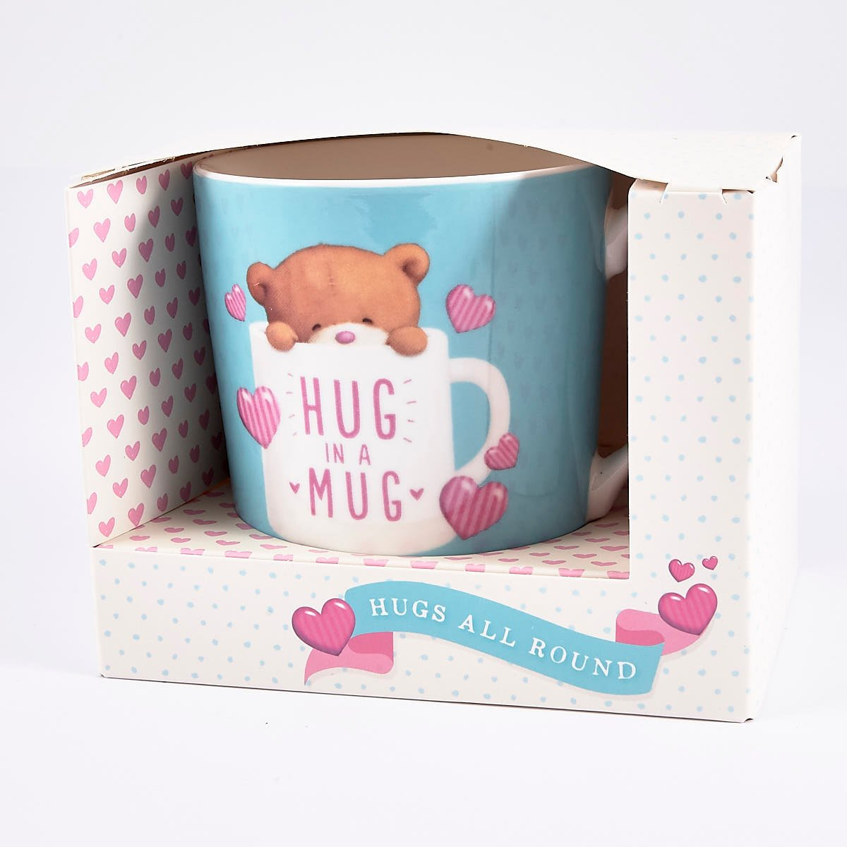Hug in a Mug' Hugs Mug