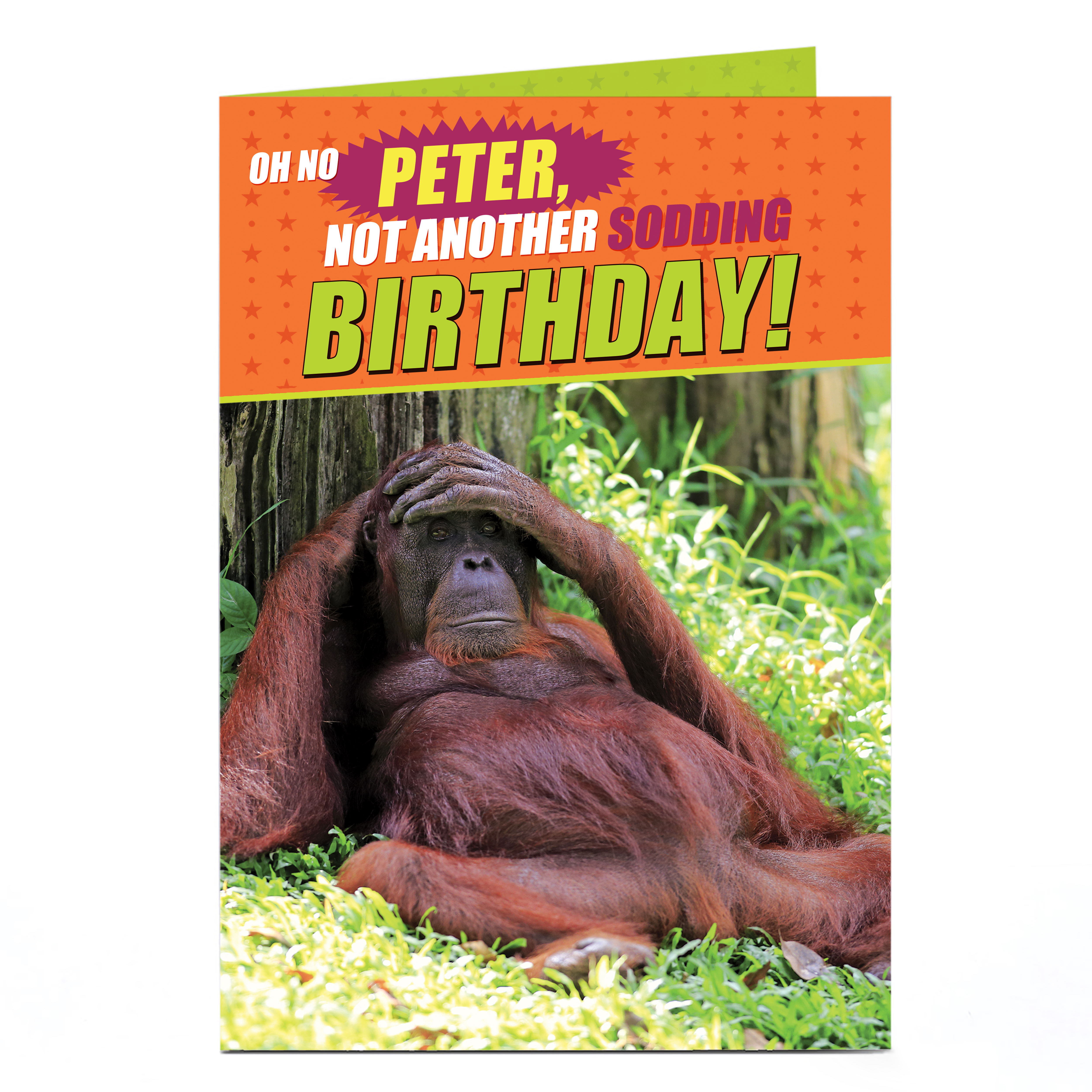 Personalised Birthday Card - Not Another Sodding Birthday