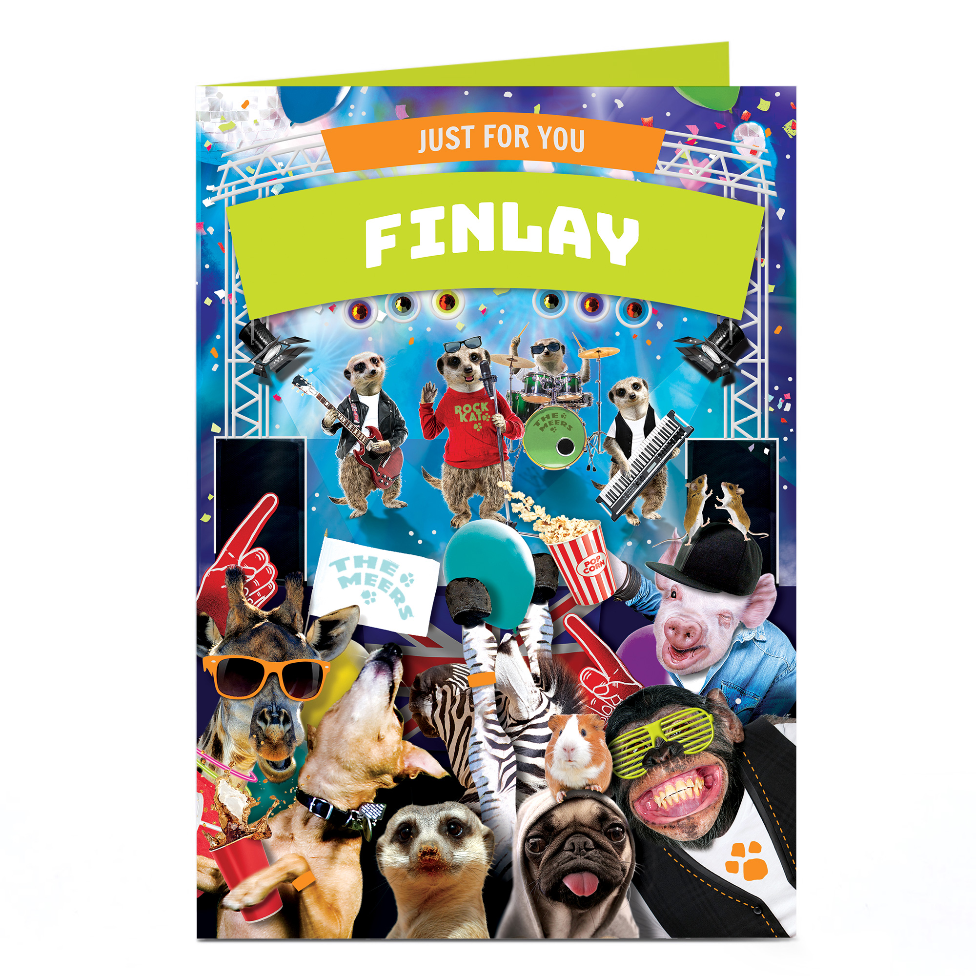 Personalised Birthday Card - Animal Party