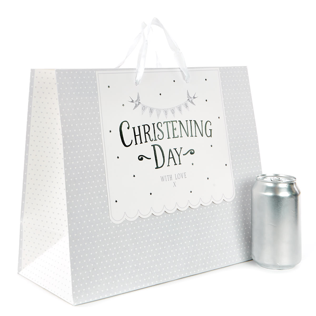 Medium Hearts Christening Day Gift Bag
