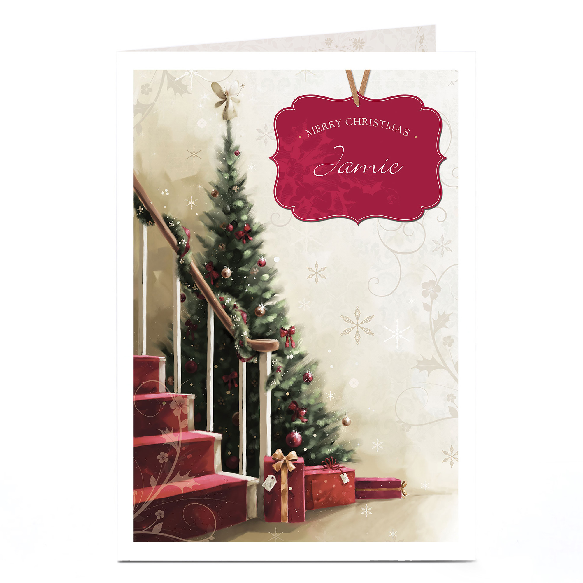 Personalised Christmas Card - Hallway Tree