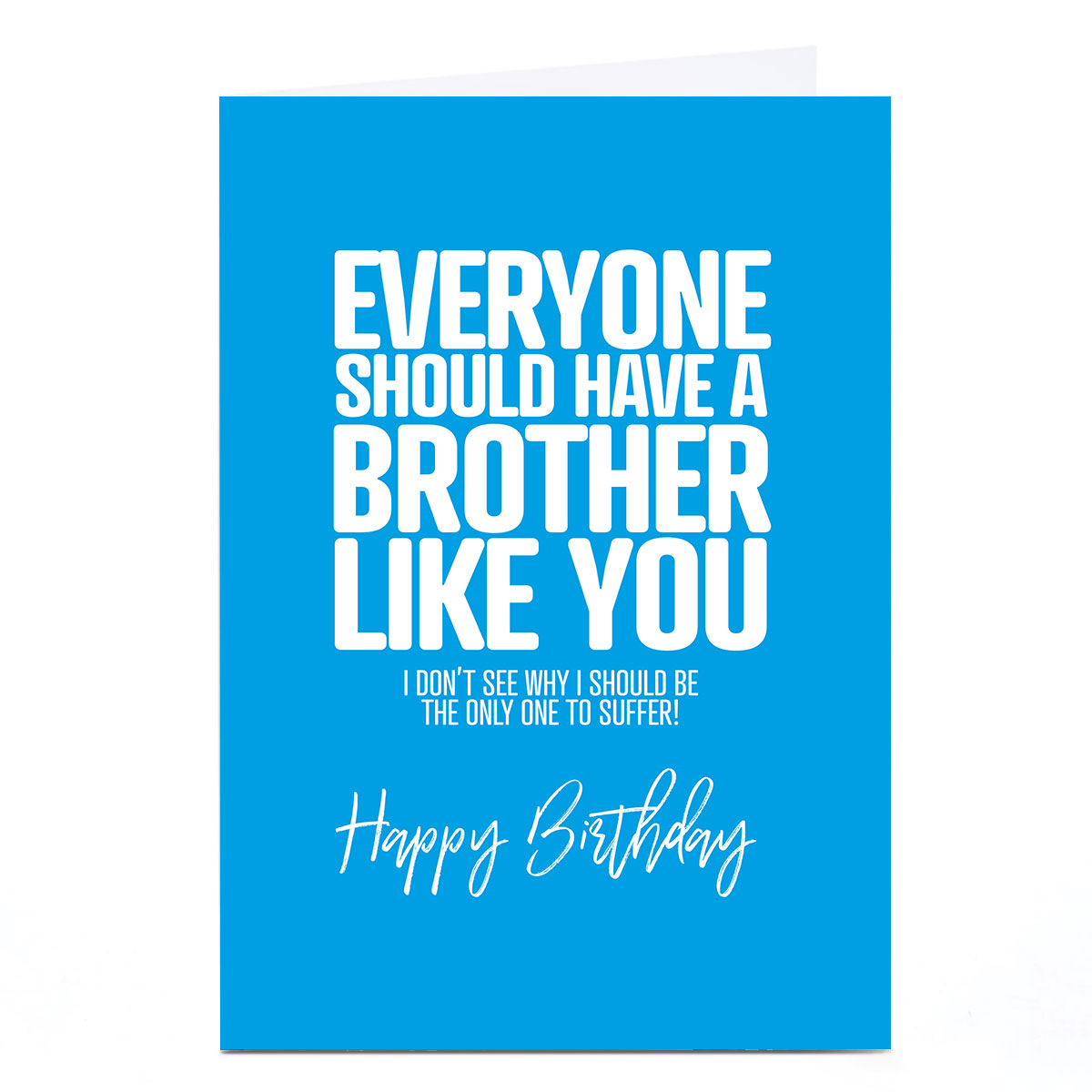 Personalised Punk Birthday Card - A Brother Like You
