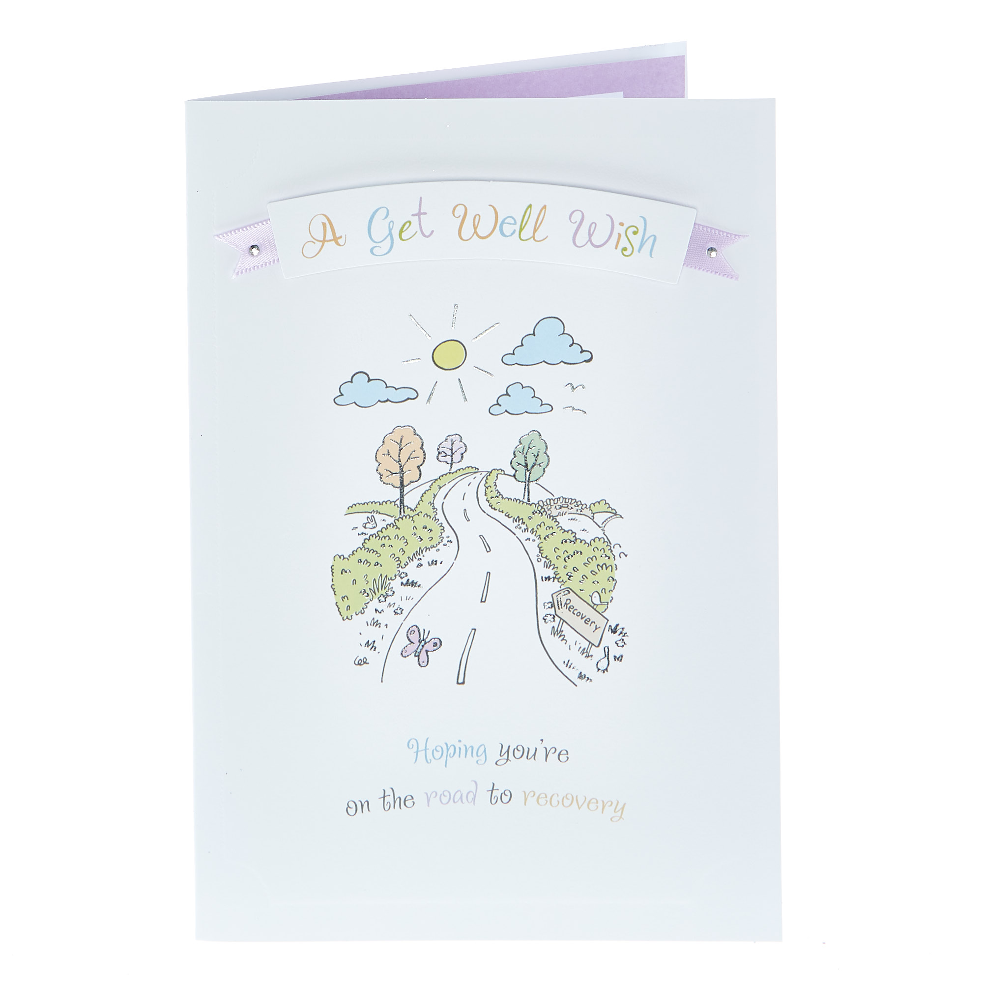Get Well Soon Card - Road To Recovery