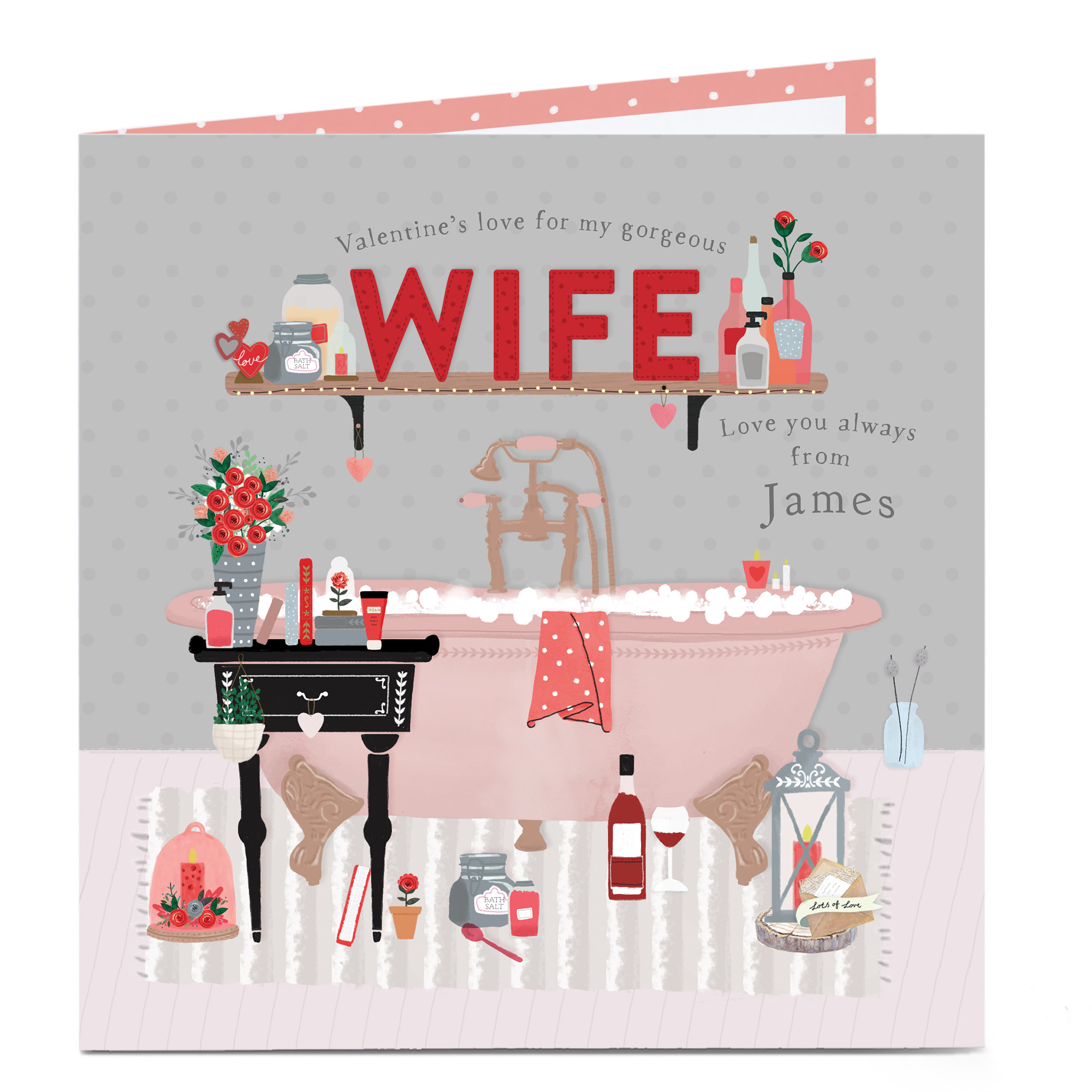 Personalised Valentines Card - Gorgeous Wife Essentials