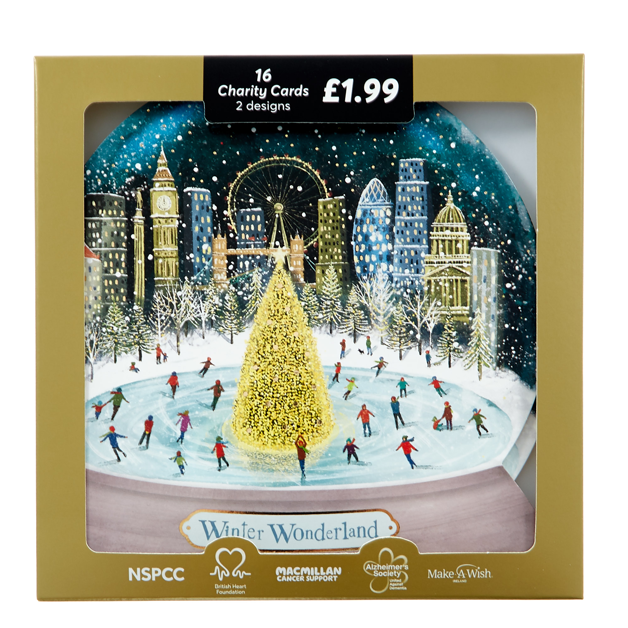 Buy 16 Snow Globe Charity Christmas Cards 2 Designs For Gbp 1 99 Card Factory Uk