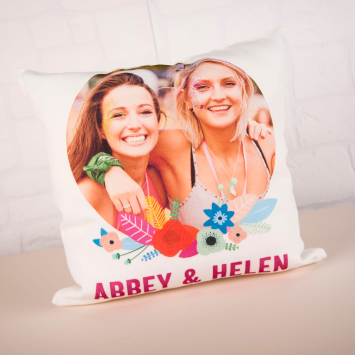 Photo Upload Flower Cushion