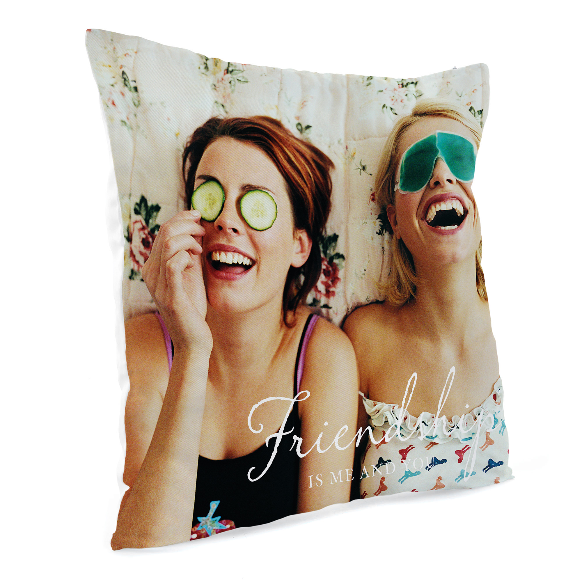 Personalised Photo Cushion - Friendship Is Me and You