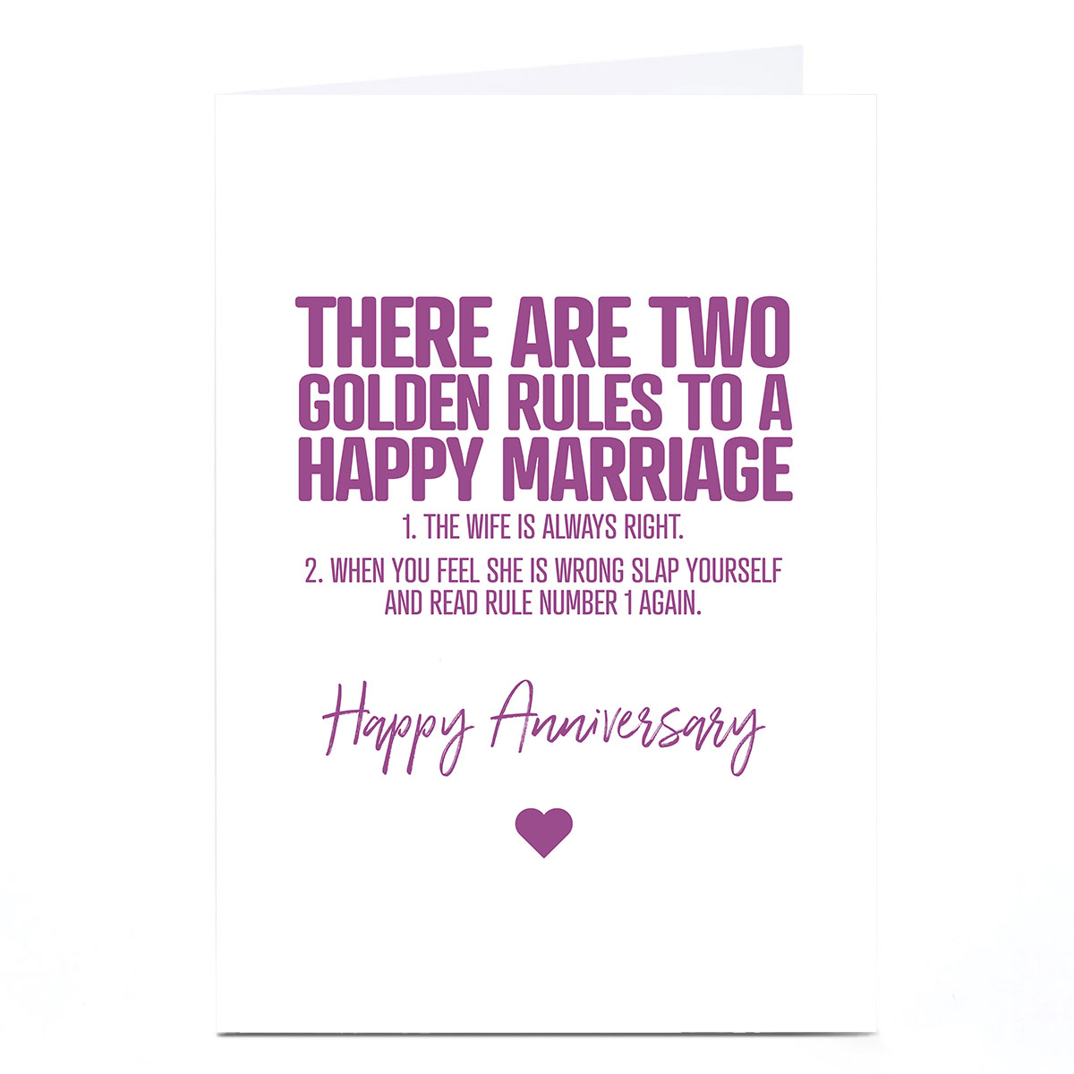 Personalised Punk Cards Anniversary Card - Happy Marriage