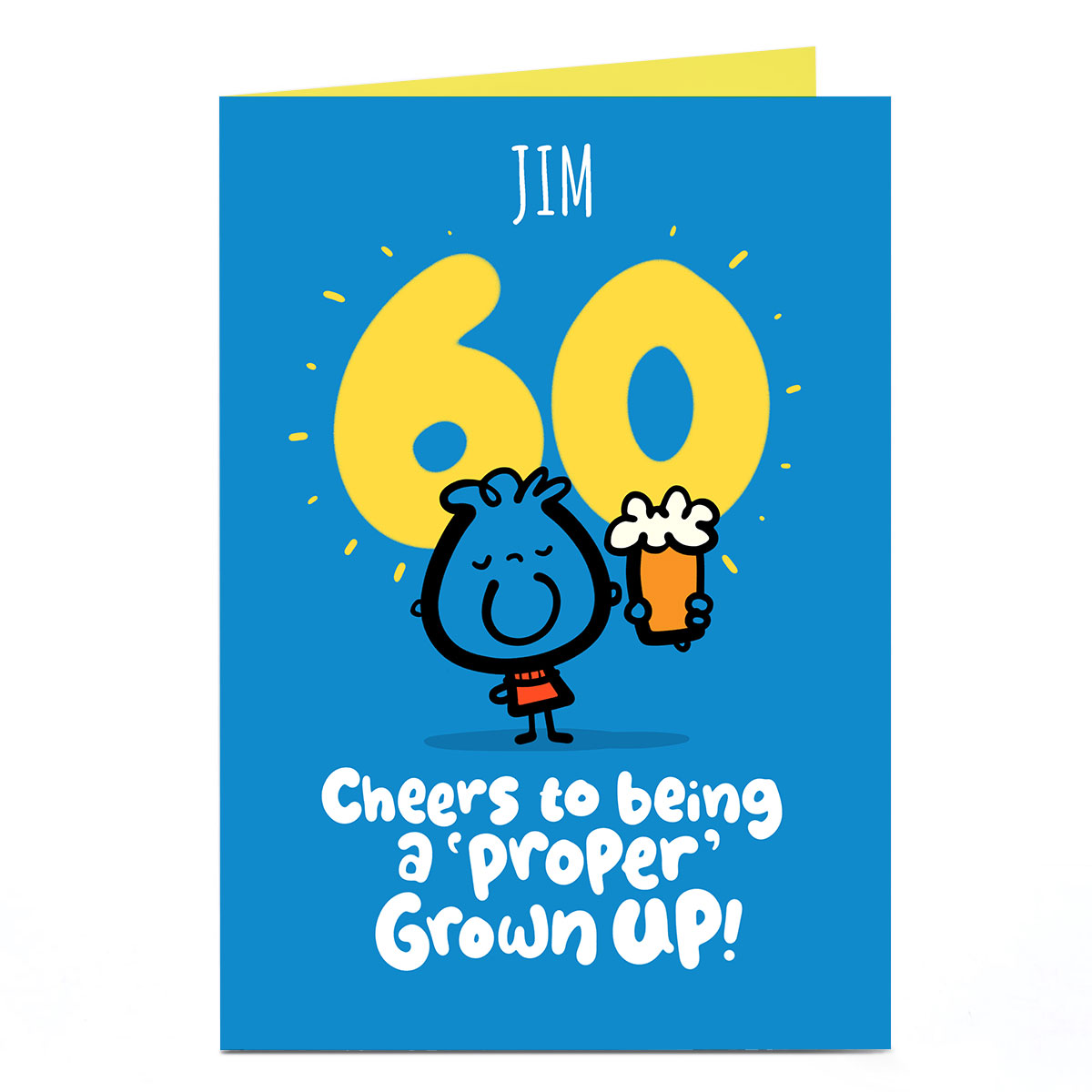 Personalised Fruitloops 60th Birthday Card - Grown Up! Cheers