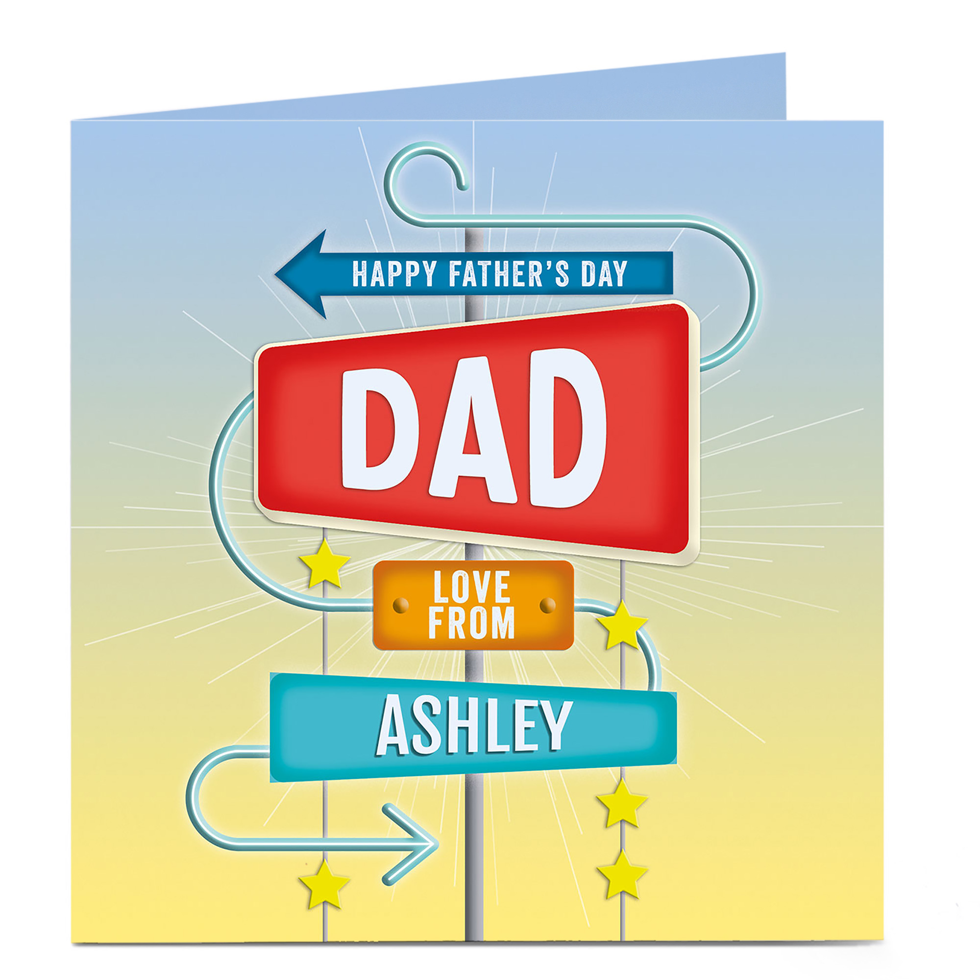 Personalised Father's Day Card - Arrows And Signs