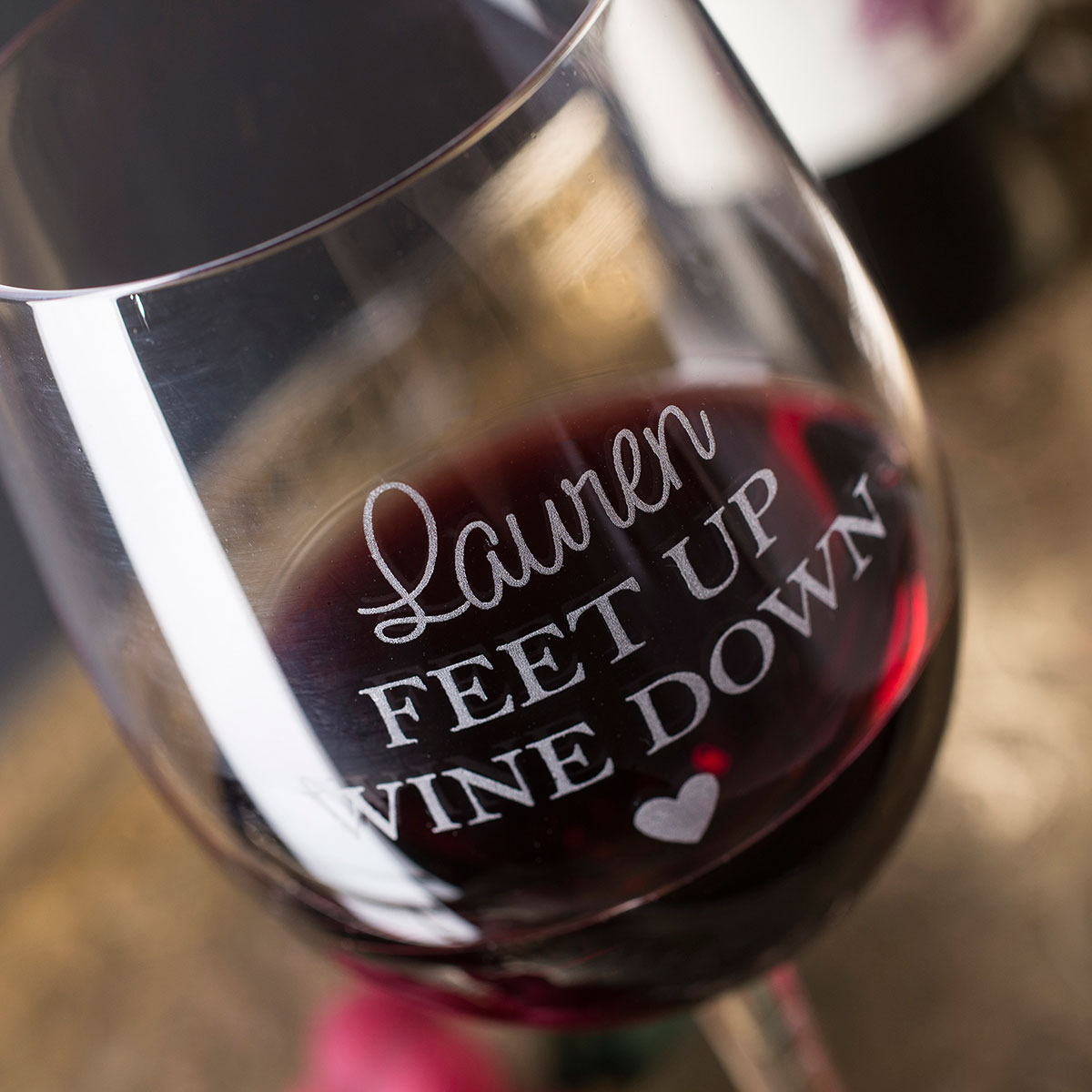 Personalised Wine Glass - Feet Up