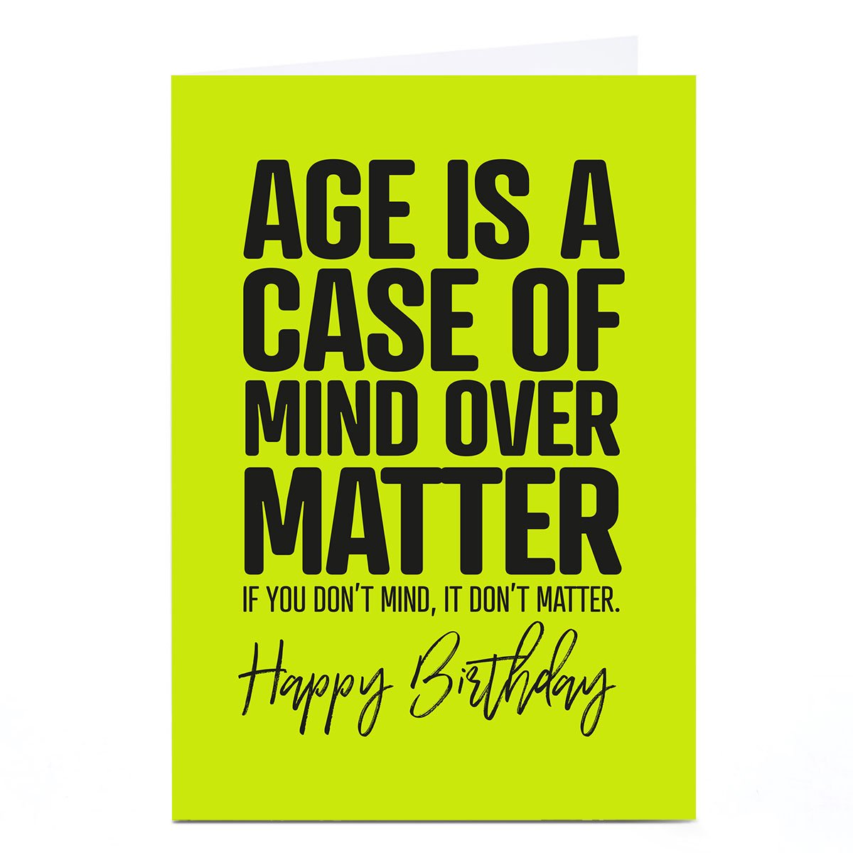 Personalised Punk Birthday Card - Mind Over Matter