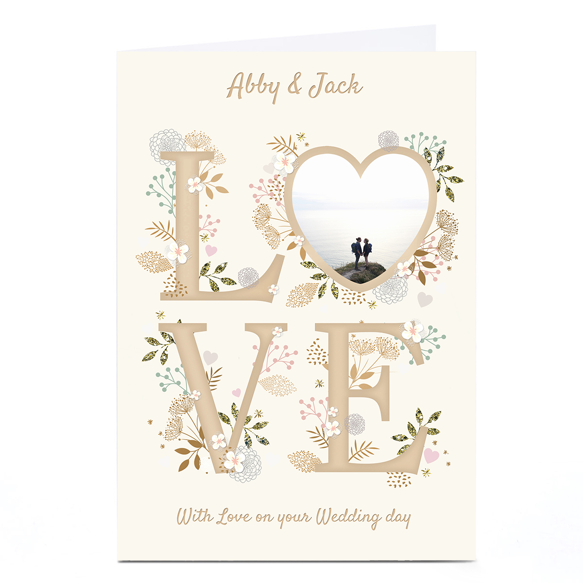 Photo Kerry Spurling Wedding Card - LOVE