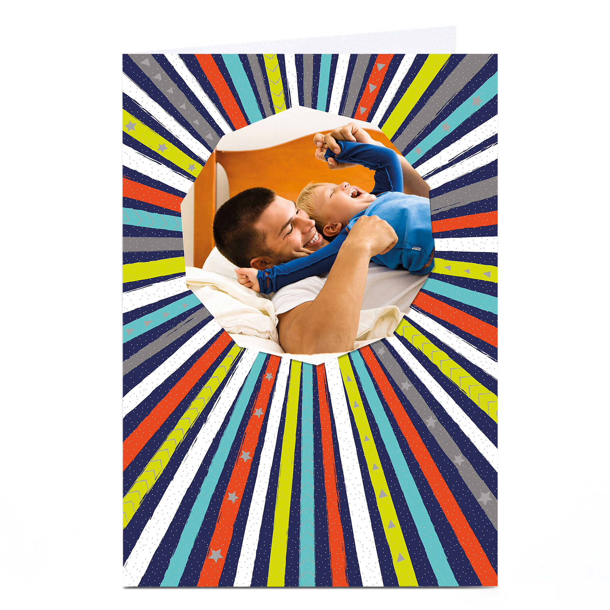 Photo Card - Multicoloured Stripes