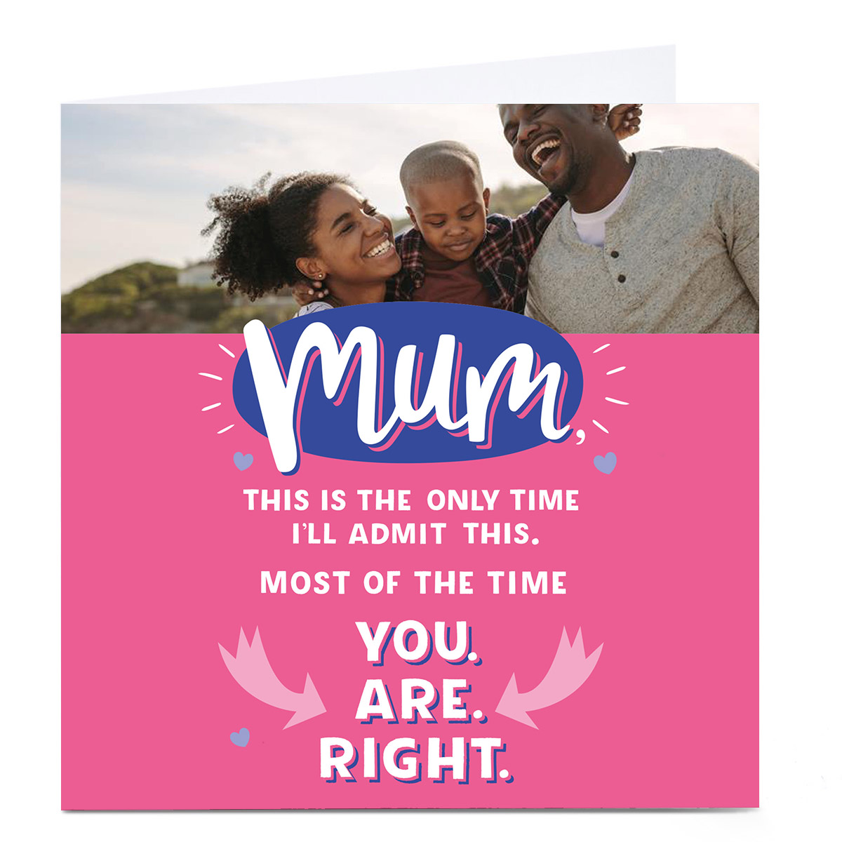 Photo Larger than Life Card - Mum is Right