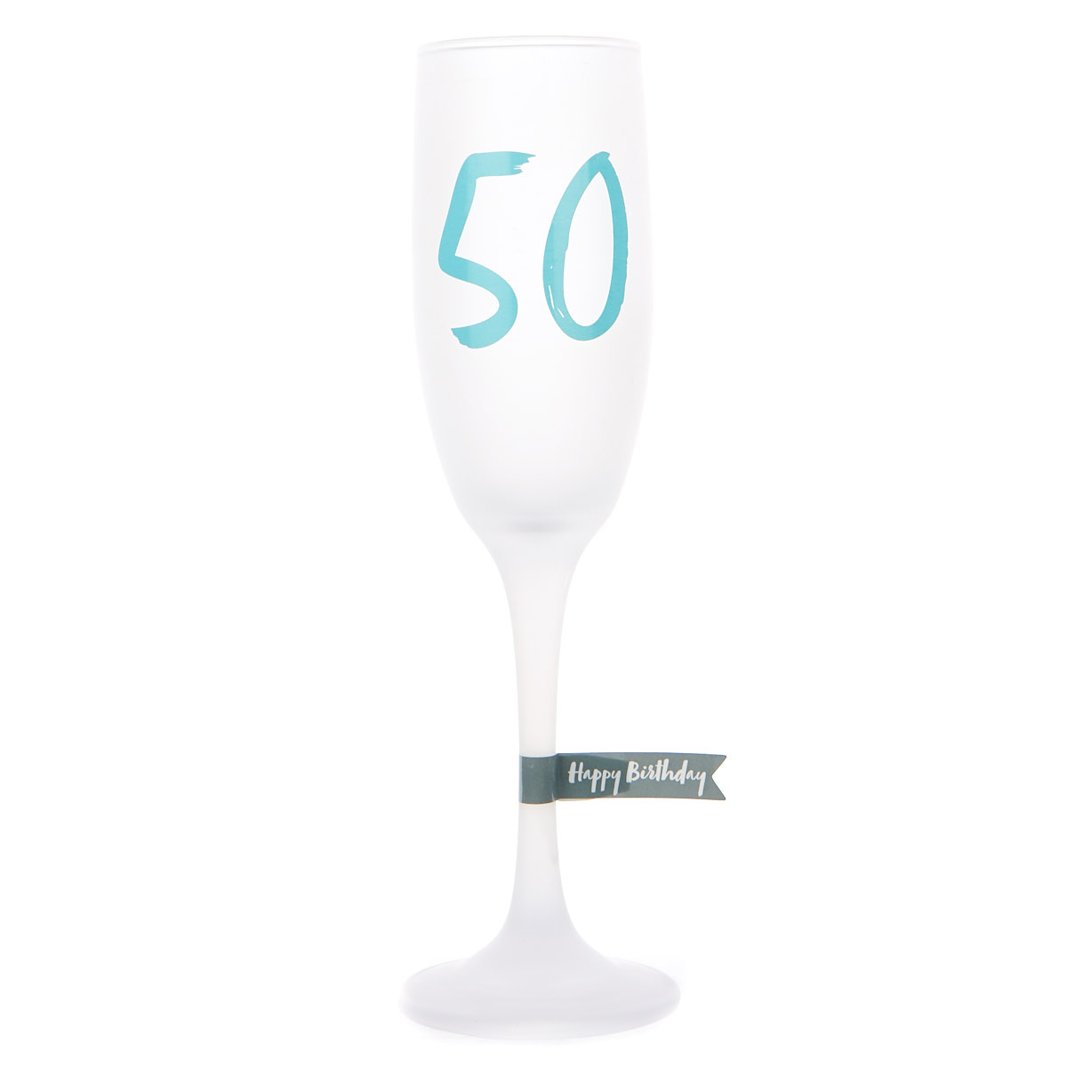 Frosted Glass 50th Birthday Flute