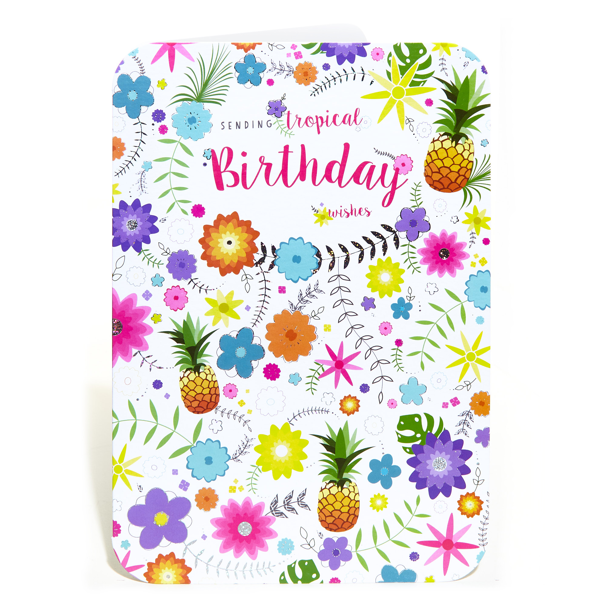 Birthday Card - Tropical Wishes