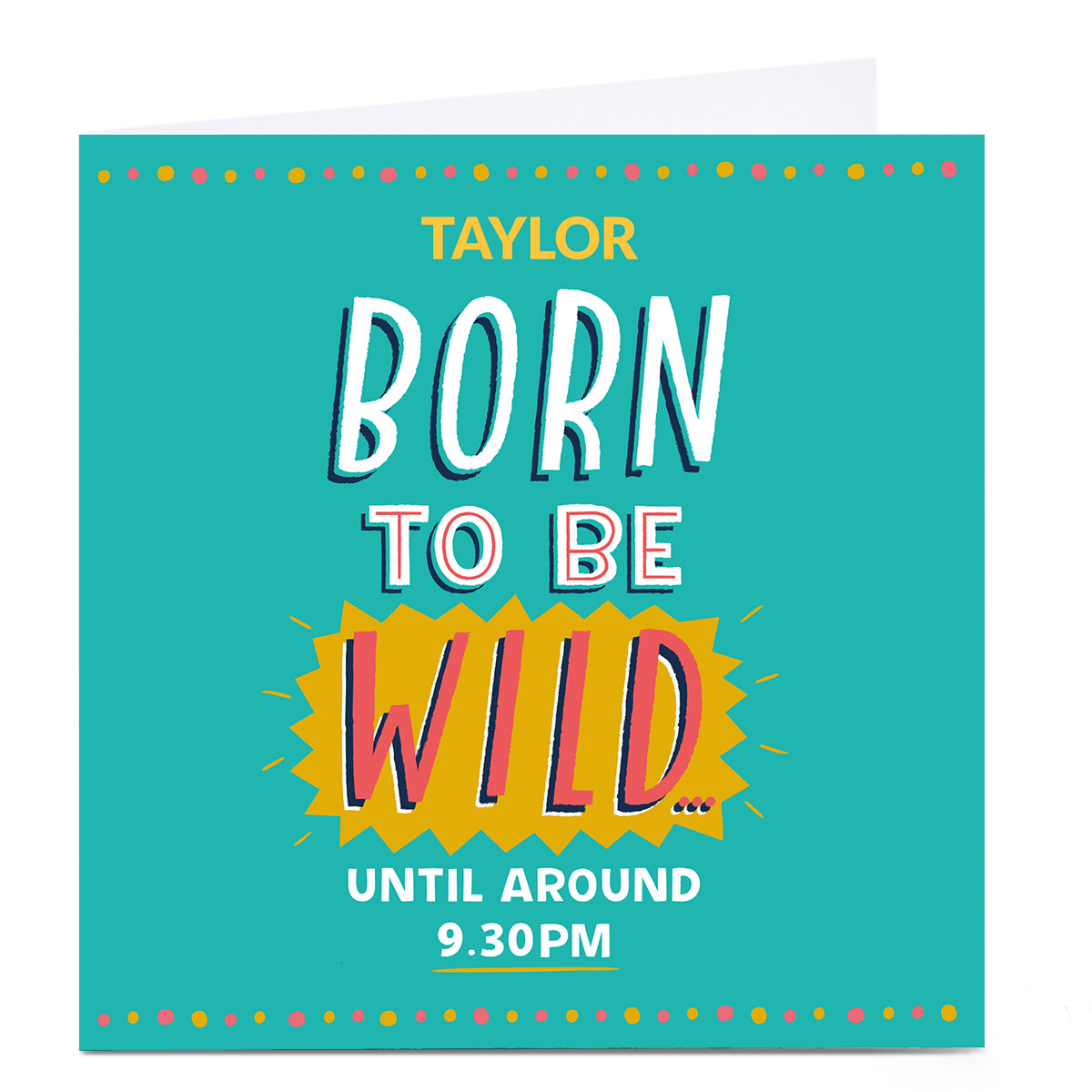 Personalised Larger than Life Card - Born To Be Wild