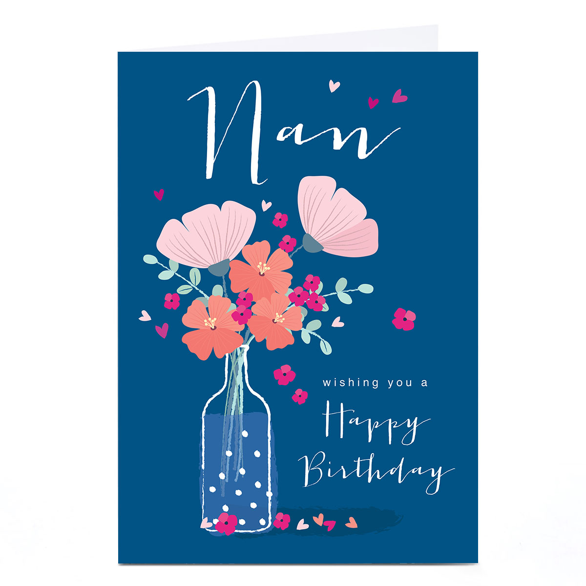 Personalised Klara Hawkins Card - Nan Flower Vase