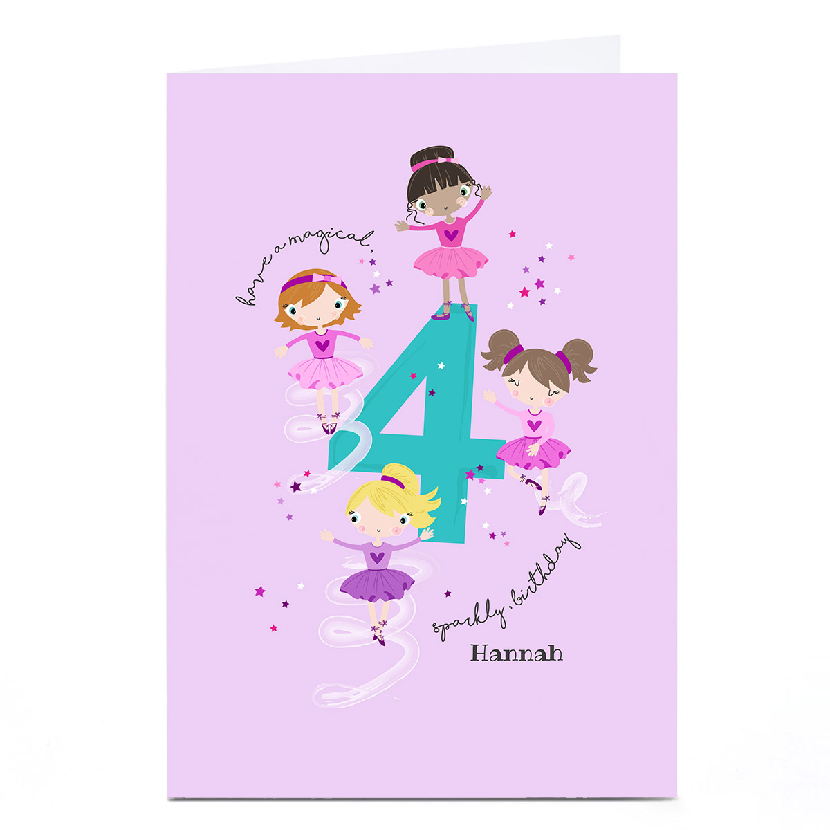 Personalised Rachel Griffin Birthday Card - 4, Sparkly Birthday