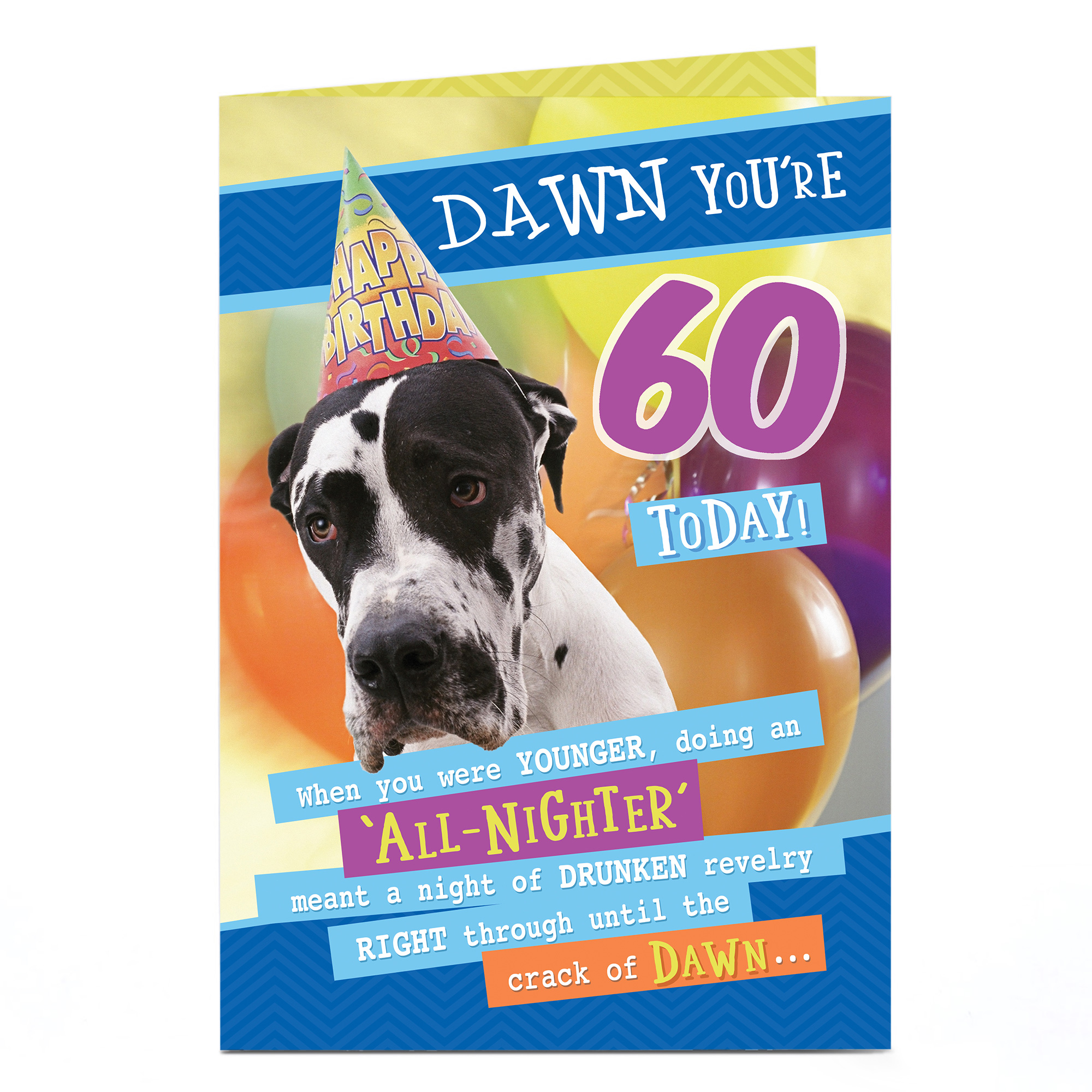 Personalised Any Age Birthday Card - Crack Of Dawn