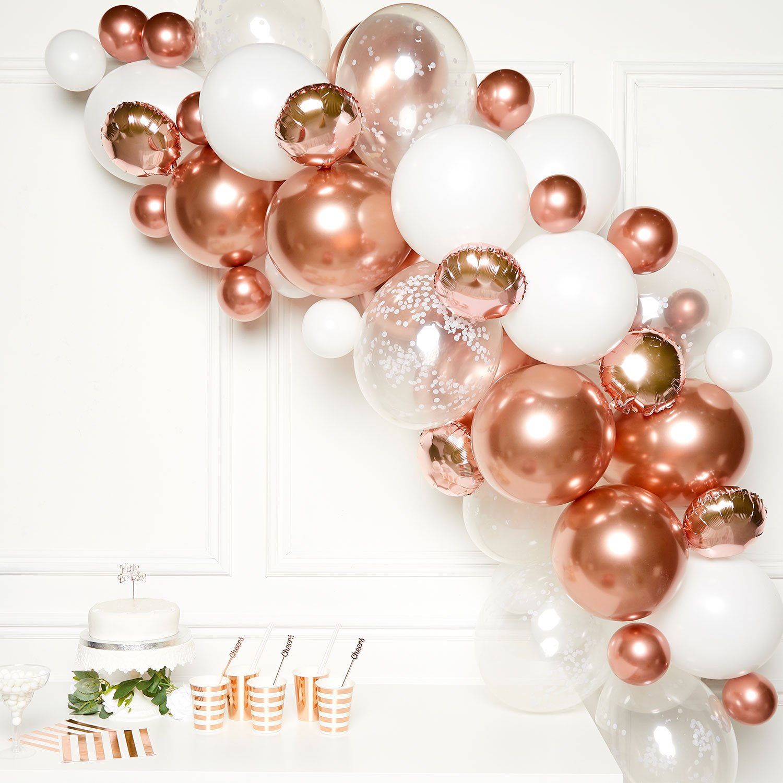 Buy Diy Balloon Garland Kit Rose Gold For Gbp 14 99 Card Factory Uk
