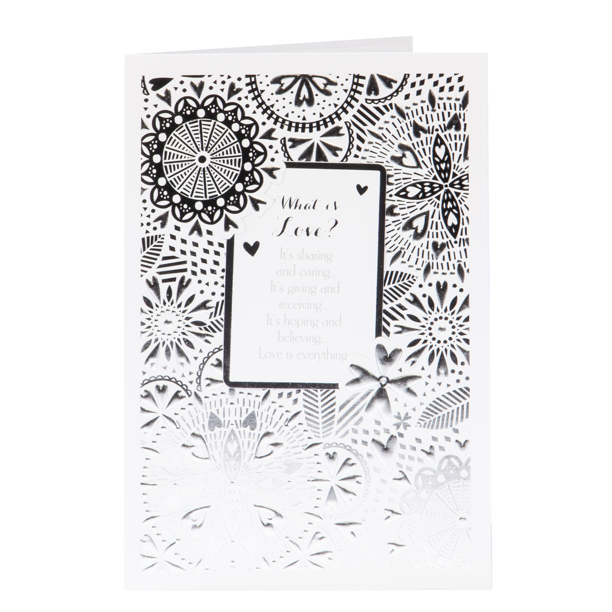 buy anniversary card  love is sharing  caring for gbp 0