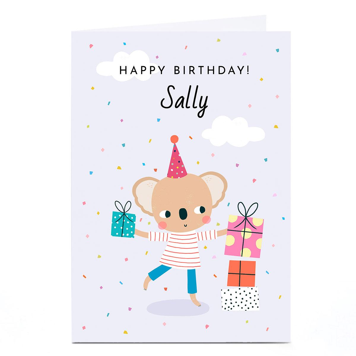 buy personalised lemon  sugar card  happy birthday for