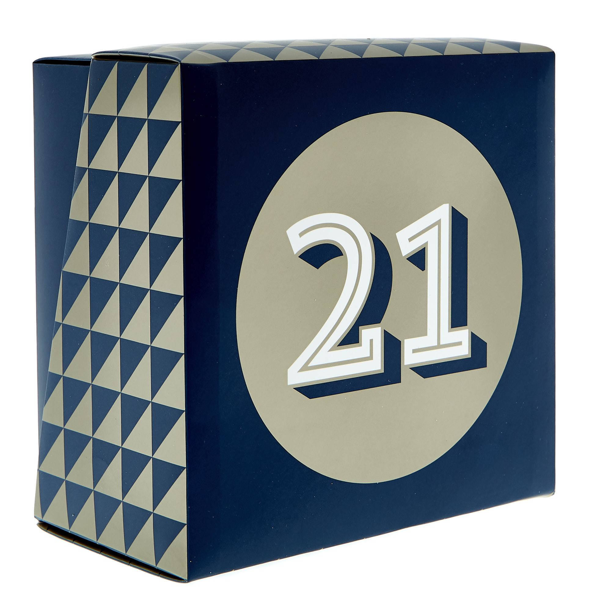 21st Birthday Mug In A Box - Blue & Gold
