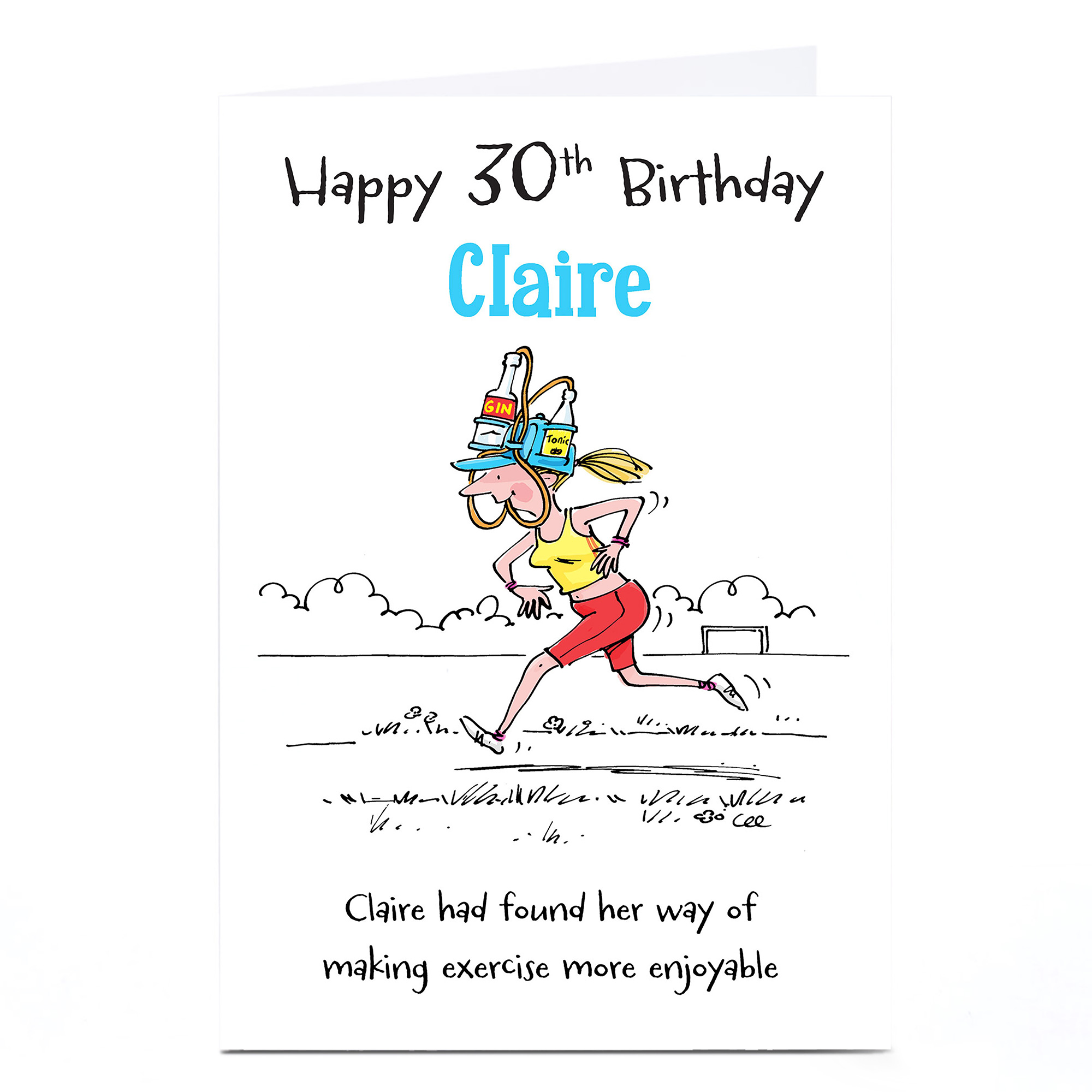 Personalised 30th Birthday Card - Enjoyable Exercise