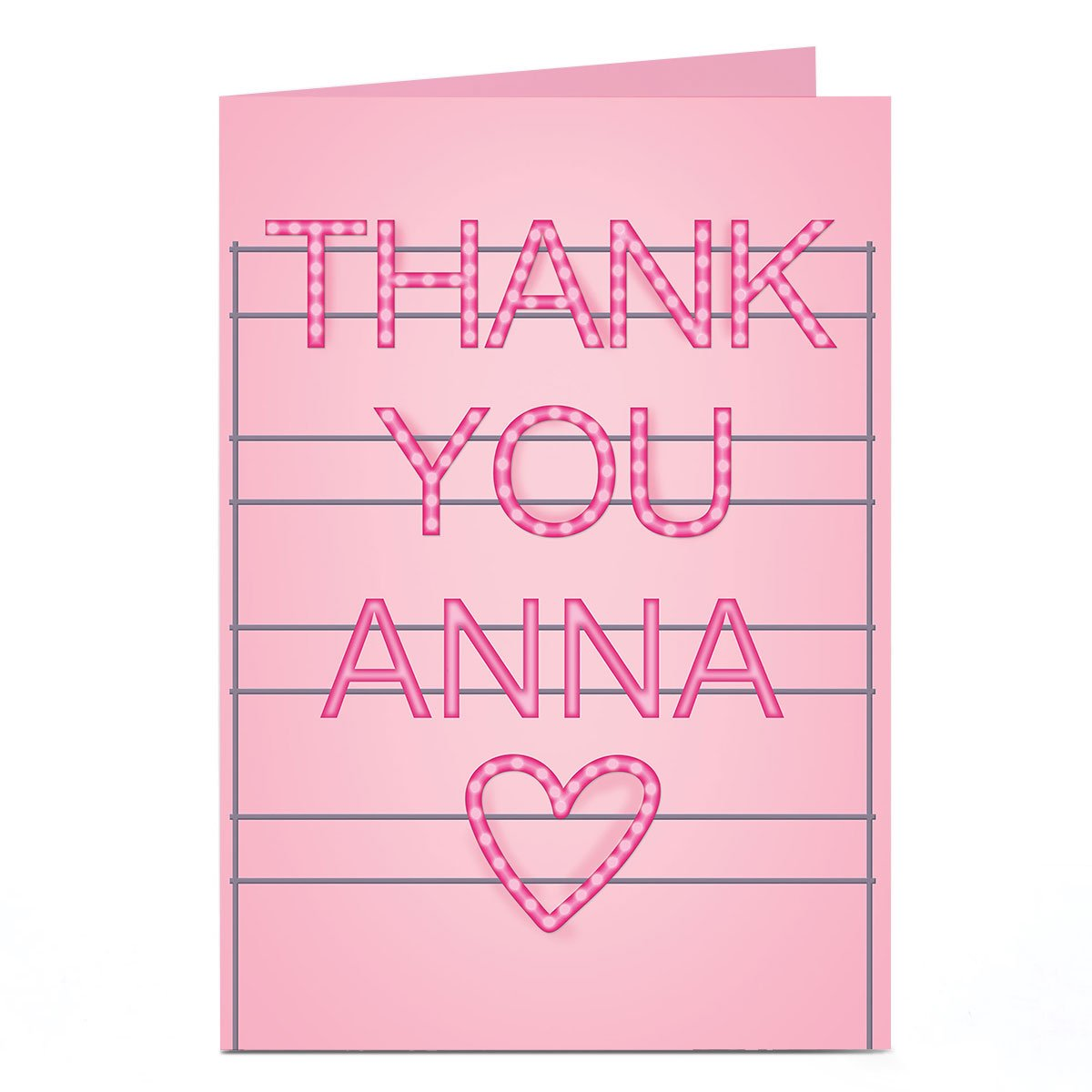 Personalised Thank You Card - Heart