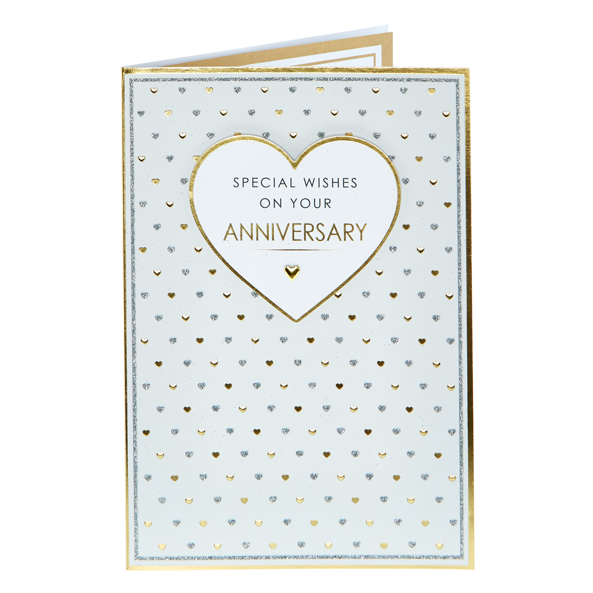 buy anniversary card  special wishes gold  silver for