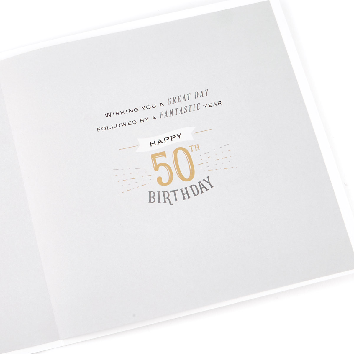 Exquisite Collection 50th Birthday Card - Any Male Recipient (Stickers Included)